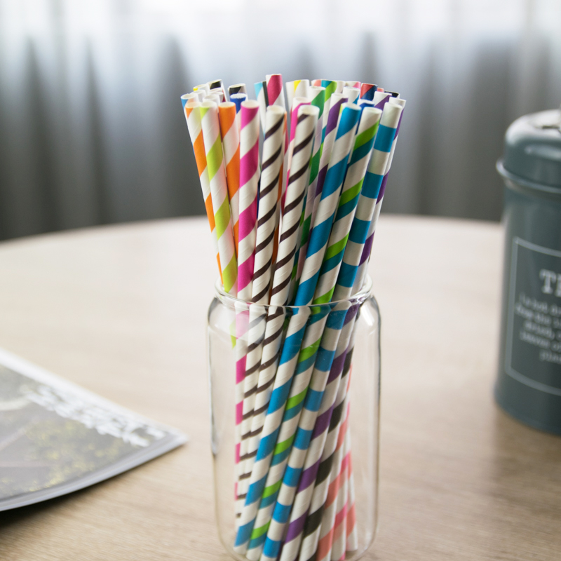 Biodegradable Disposable Coffe Cup Drinks Paper Straw