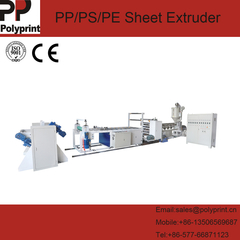 High Speed Single/Double Layer Plastic PP/PS Sheet Extruder/Extruding/Extrusion Making Machine