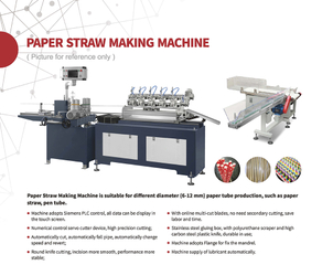 Biodegradable Nice Quality Colorful Paper Drinking Straw Making Machine for Plastic/Paper/Glass Cup