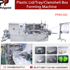 Plastic Fast Food Tray Containers Clamshell Box Lid/Cover Thermoforming Making Forming Machine