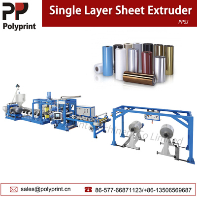 Single/Double Layer Plastic Sheet Extrusion Line