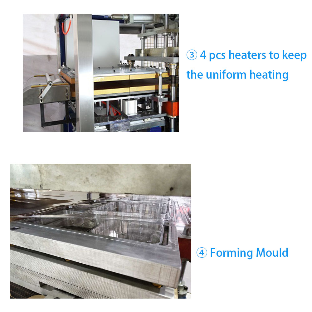 Low Consumption Full Automatic Cup Lid Making Machine with Counting and Stacking/Plastic Food Tray Containers Thermoforming Forming Machine