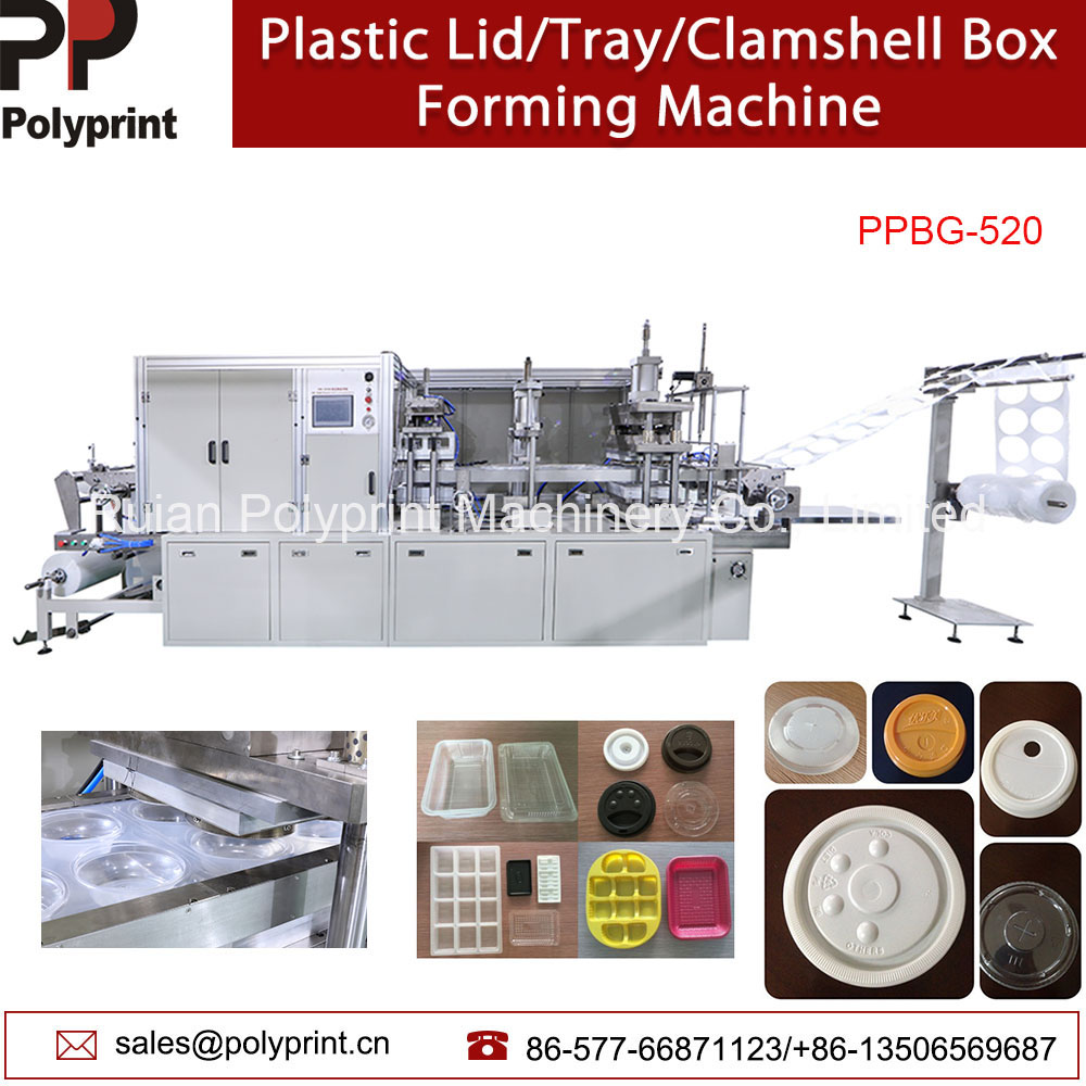 Automatic Plastic Tray Food Containers Clamshell Jelly Cup Lid/Cover Thermoforming Forming Making Machine