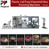 Hot Drinks Coffee/Milk/Tea PS PVC Pet Cup Lid Plastic Machinery Clamshell Box Tray Forming Machine