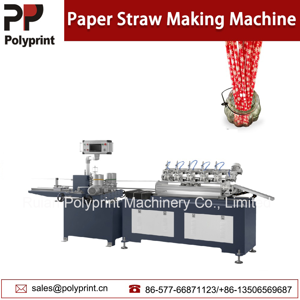 Advanced High Speed Dispoasble Drinking Straw Machine Paper Sucker Machine/ Paja De Papel